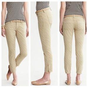 Banana Republic Heritage zebra print skinny jeans